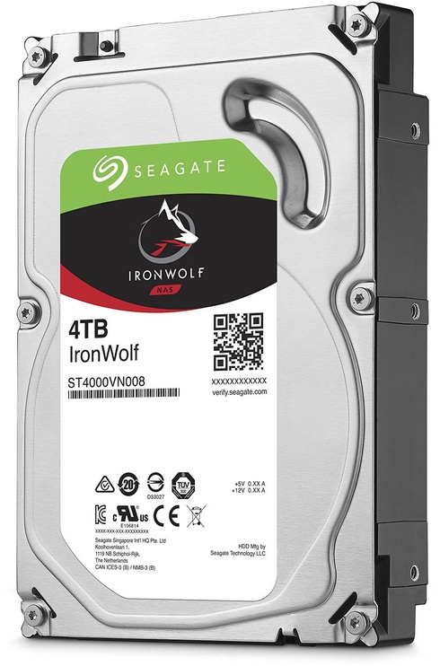 Seagate IronWolf NAS HDD 4TB 5900RPM SATA3 64MB ST4000VN008