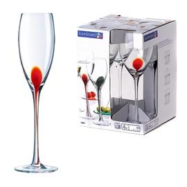 CHAMPAGNE GLASSES 220MLDRIP ROUGE 4PCS