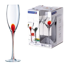 CHAMPAGNE GLASSES 220MLDRIP ROUGE 4PCS