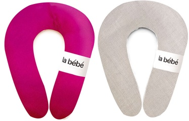 La Bebe Nursing Maternity Pillow Snug 20x70cm Rasberry/Oatmeal 85184