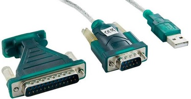 4World USB To Serial DB9M/DB25M Adapter