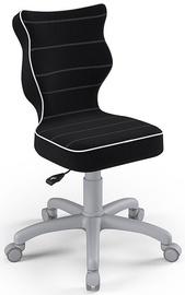 Детский стул Entelo Petit Size 4 JS01, черный/серый, 350 мм x 830 мм