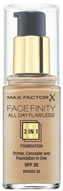 Max Factor Face Finity All Day Flawless 3in1 Foundation 30ml 80