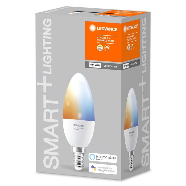 Viedā spuldze Ledvance LED, E14, B38, 5 W, 470 lm, 2700 - 6500 °K, daudzkrāsaina, 1 gab.