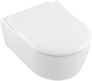 Sienas tualete Villeroy & Boch Avento Rimless, ar vāku, 370x530 mm
