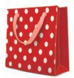 Paw Decor Collection Gift Bag Dosty Check Red