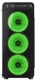 Natec Irid 300 Midi Tower Black/Green