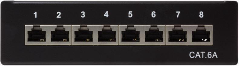 Lülitusseade LogiLink Patch Panel Desktop Cat.6A STP Black