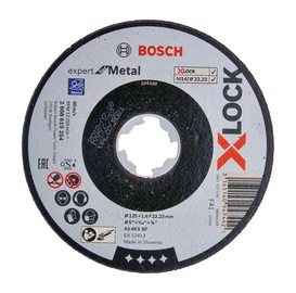 Lõikeketas Bosch X-LOCK, 125 mm x 1.6 mm
