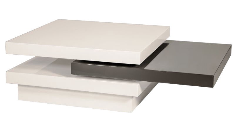 Журнальный столик Signal Meble Trista White/Gray, 800x800x420 мм
