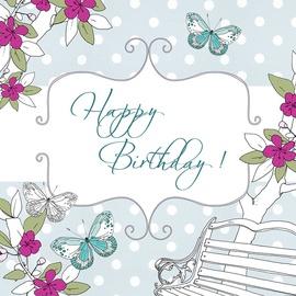 Clear Creations Garden Bench Birthday Card CL1504
