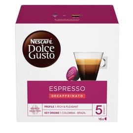 Kafijas kapsulas Nescafe Dolce Gusto Espresso Decaffeinato Red, 16 gab.