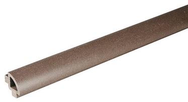 Rudas WPC terasinės lentos apdailos profilis, 32x32x2400 mm