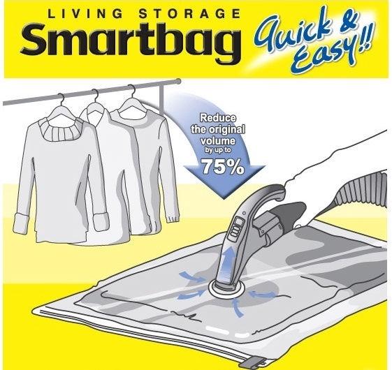 Lock&Lock Vacuum Bag 2PCS Smartbag Jumbo 120x92cm