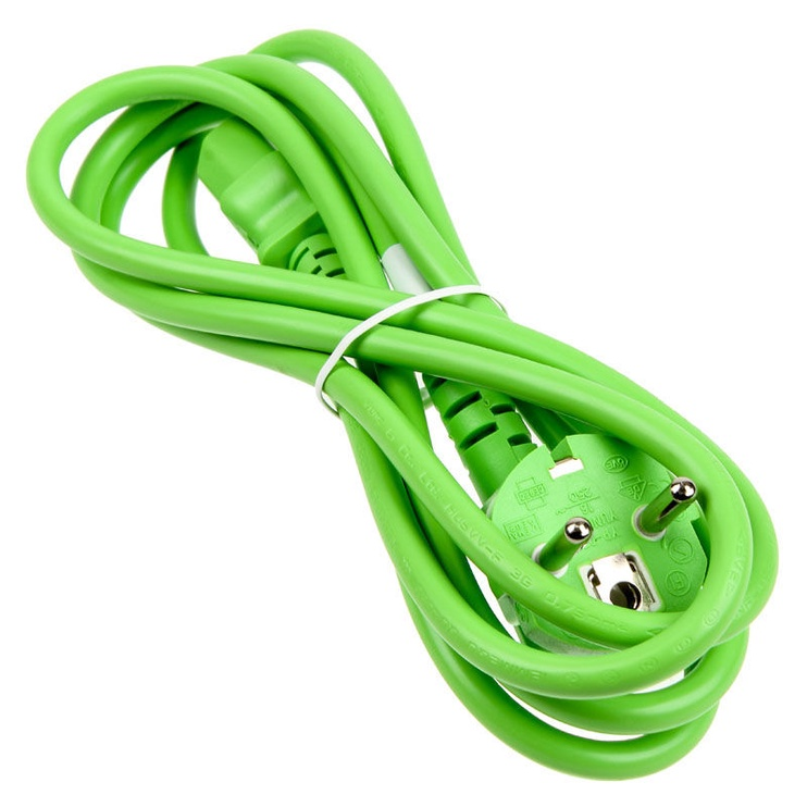 Kolink Power Cable SchuKo To IEC Connector C13 1.8m Green