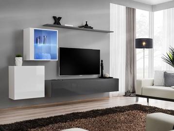 Dzīvojamās istabas mēbeļu komplekts ASM Switch XV Graphite/White