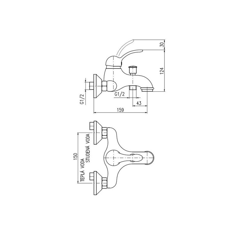 Vannas maisītājs Domoletti Labe Futura DL054.5