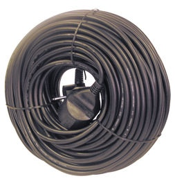 Verners Extension Cord Black 50m