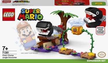 Конструктор LEGO Super Mario Дополнительный набор «Кусалкин на цепи — встреча в джунглях» 71381, 160 шт.