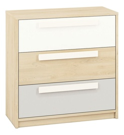 ML Meble Drop 10 Chest Of Drawers Beech/White/Light Gray