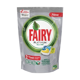 Nõudepe kap Fairy All in 1 Platinum Lemon 50 tk