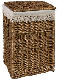 Home4you Laundry Basket Max 2 37x32xH52cm Brown Lace