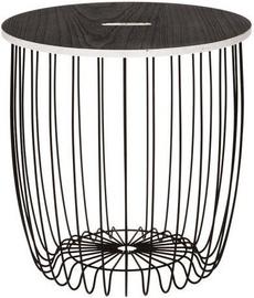 Kafijas galdiņš 4Living, melna, 400x400x420 mm