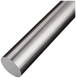 Strypas apvalus aliuminis chromo spalvos 1000X8MM