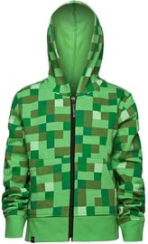 Jinx Minecraft Creeper No Face Premium Zip-Up Hoodie Green XL