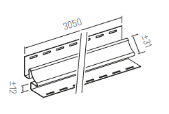 Plastikinių dailylenčių vidinis kampas Vox SV-13, kreminė, 305 x 3.1 cm