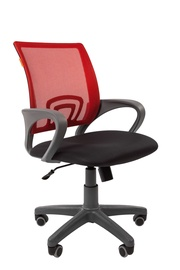 Chairman 696 Grey Office Chair TW-12 Red