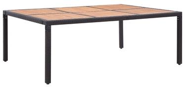 Садовый стол 46134, коричневый/черный
