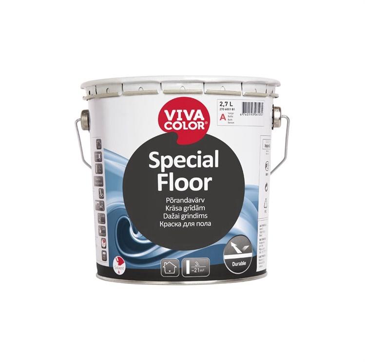 Grindų dažai Vivacolor Special floor A, balti, 2.7 l