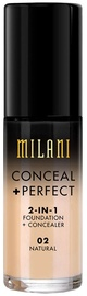 Milani Conceal + Perfect 2in1 Foundation + Concealer 30ml 02