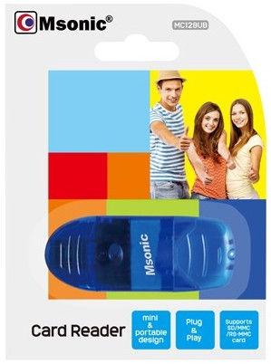 Vakoss MSonic MC128UB USB 2.0 Card Reader Blue