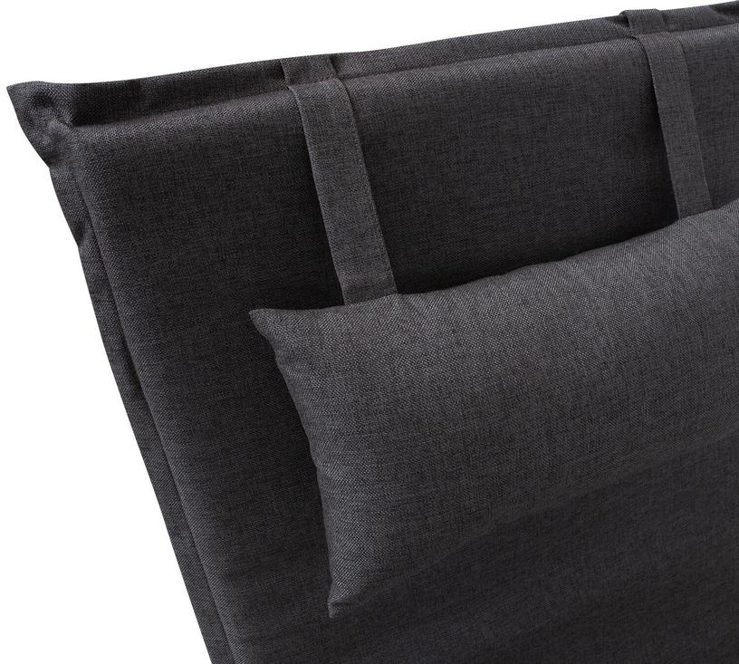 Home4you Wicker Deck Chair Pad 55x195x3cm Dark Grey