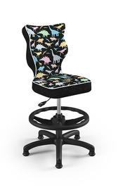Vaikiška kėdė Entelo Petit ST30, juoda/įvairių spalvų, 370x350x950 mm