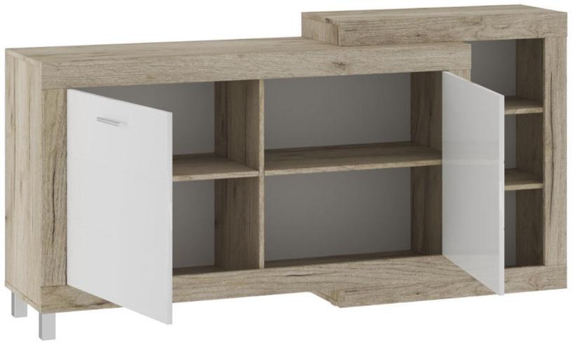 Tuckano Ultra Chest of Drawers 1790x900x420mm Oak/White
