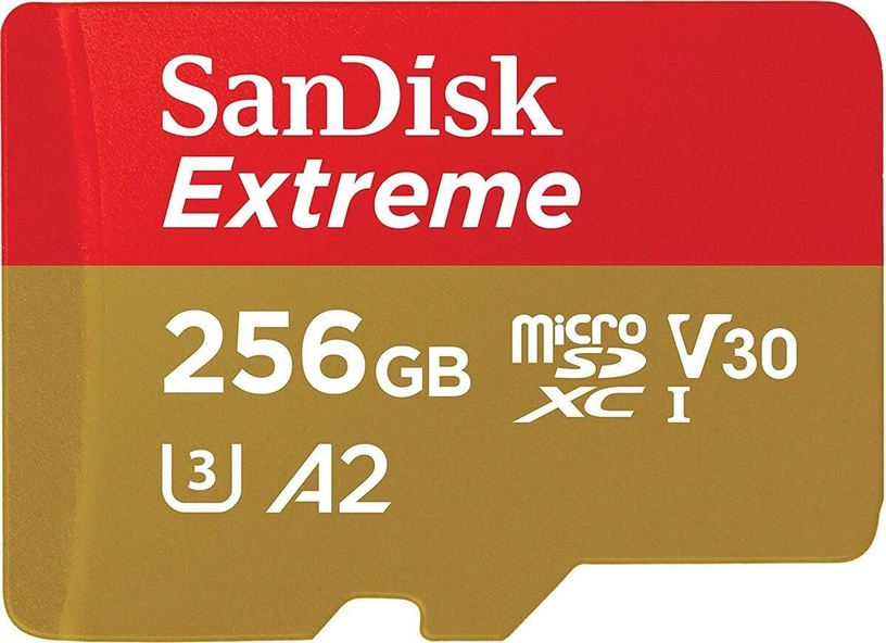 SanDisk Extreme 256GB microSDXC UHS-I Class 10 + Adapter