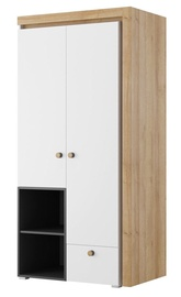 Szynaka Meble Riva 02 Wardrobe White/Black/Oak
