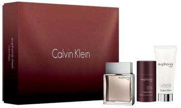 Calvin Klein Euphoria 100ml EDT + 100ml Aftershave Balm + 75g Deostick