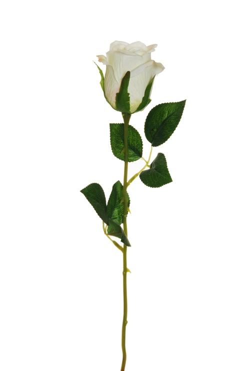 Artificial Flower Rose White 55cm 80-347947