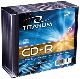 Esperanza 2028 CD-R Titanum 52x 700MB Slim Jewel Case 10pcs