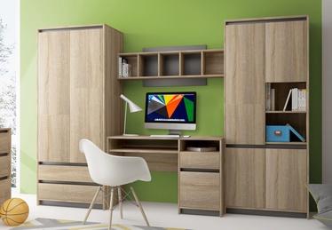 Комплект мебели для детской комнаты WIPMEB Madagaskar II, серый/дубовый