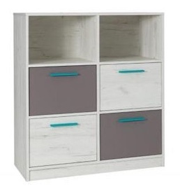 Maridex Rest R04 Chest Of Drawers White Oak/Grey