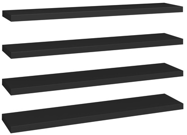Настенная полка VLX Floating 323843, черный, 120 см x 23.5 см x 3.8 см