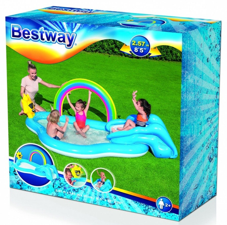 Bestway Inflatable Pool With Slide 257x145cm