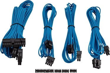 Corsair Premium Individually Sleeved PSU Cable Kit Starter Package Type 4 (Gen 3) Blue