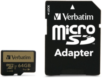 Verbatim Flash Card MicroSD Pro Plus 64GB