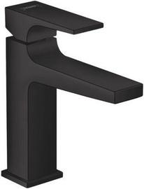 Hansgrohe Metropol 110 Sink Faucet with Push-Open Matt Black